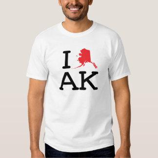 Amo AK - estado - niño Playeras