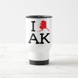 Amo AK - estado - taza del viaje
