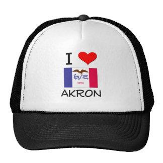 Amo AKRON Iowa Gorro De Camionero
