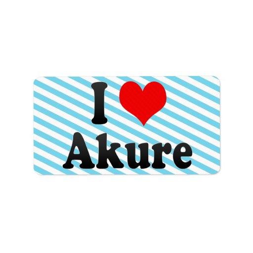 Amo Akure, Nigeria Etiqueta De Dirección