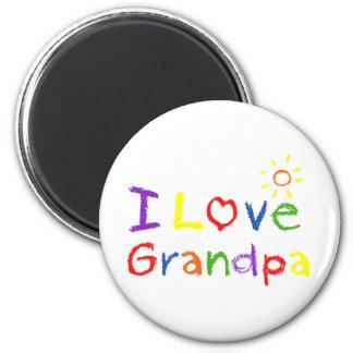 Amo al abuelo imán redondo 5 cm