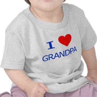 Amo al abuelo camisetas