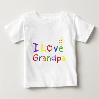 Amo al abuelo playera de bebé