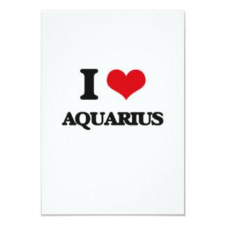 """Amo al acuario invitación 3.5"""" x 5"""""""