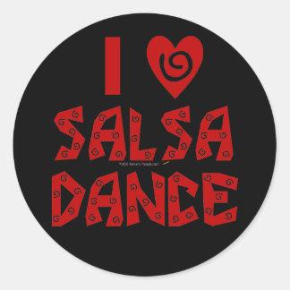 Amo al amante de encargo del baile de la danza de pegatina redonda