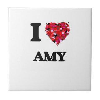 Amo al Amy Azulejo Cuadrado Pequeño