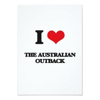 """Amo al australiano interior invitación 5"""" x 7"""""""