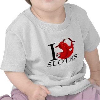 Amo al bebé de las perezas camisetas