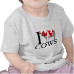 Amo al bebé de las vacas camiseta