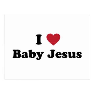 Amo al bebé Jesús Tarjeta Postal