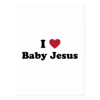 Amo al bebé Jesús Tarjetas Postales