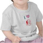 Amo al bebé T de Santa Camiseta