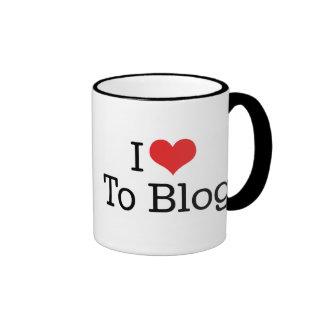 Amo al blog taza de dos colores