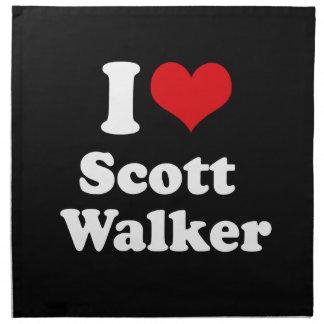 Amo al caminante de Scott - elección 2016 Servilleta Imprimida