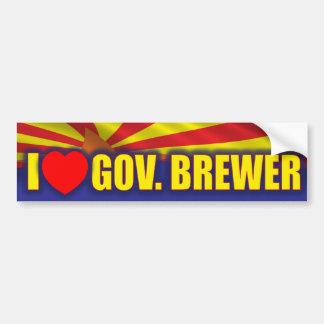Amo al cervecero del gobernador pegatina para auto
