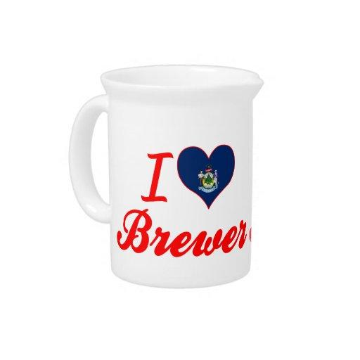Amo al cervecero, Maine Jarras De Beber
