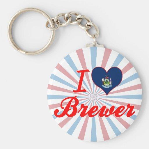 Amo al cervecero, Maine Llaveros Personalizados