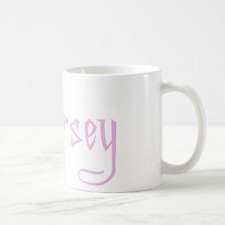 Amo al chica del jersey tazas de café