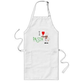 Amo al cocinero de las pastas delantal largo