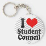 Amo al consejo de estudiantes llavero personalizado
