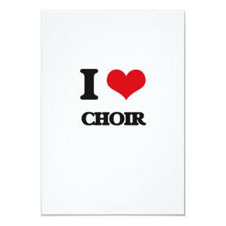 """Amo al coro invitación 3.5"""" x 5"""""""