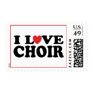 Amo al coro sello postal