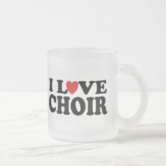 Amo al coro taza cristal mate