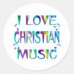 Amo al cristiano etiqueta redonda