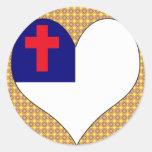 Amo al cristiano etiquetas redondas