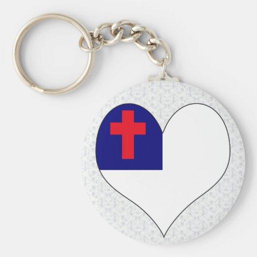 Amo al cristiano llaveros personalizados