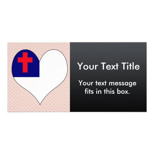 Amo al cristiano tarjeta con foto personalizada