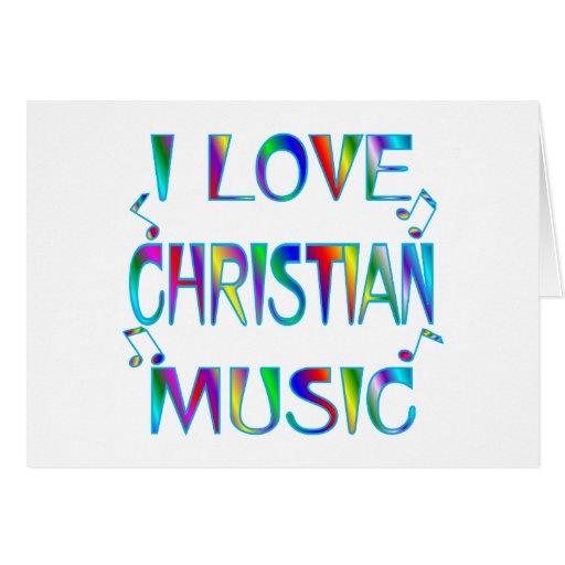 Amo al cristiano tarjetón