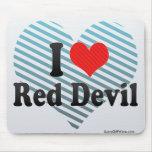 Amo al diablo rojo tapete de ratones