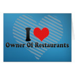 Amo al dueño de restaurantes tarjetas