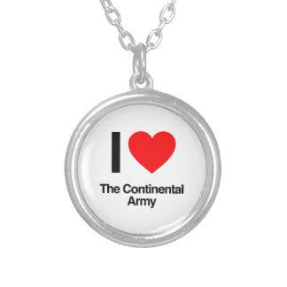 amo al ejército continental colgante redondo