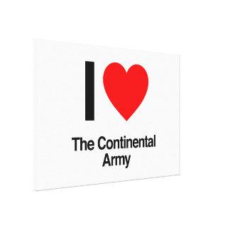amo al ejército continental lienzo envuelto para galerías