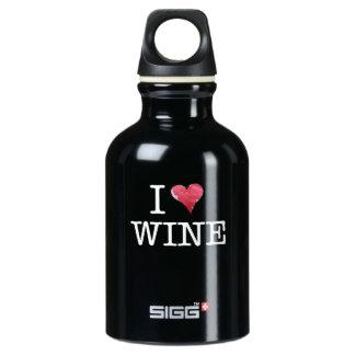 Amo al entusiasta del vino del corazón del vino