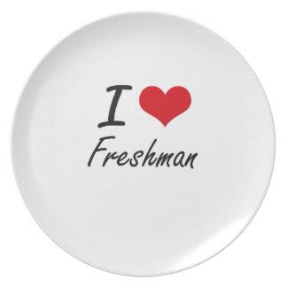 Amo al estudiante de primer año plato de comida