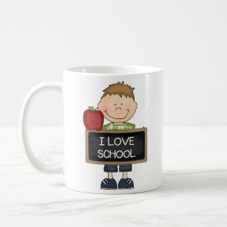 Amo al estudiante del escolar taza