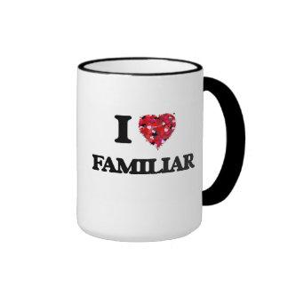 Amo al familiar taza a dos colores