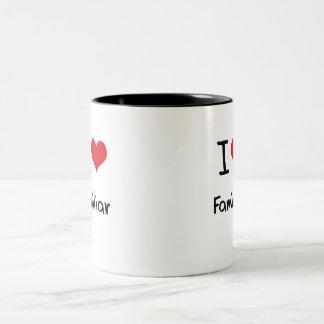 Amo al familiar taza
