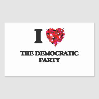 Amo al fiesta Democratic Pegatina Rectangular
