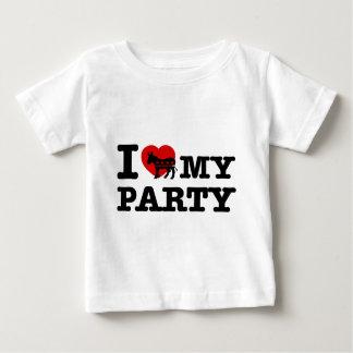 Amo al fiesta Democratic Camisetas