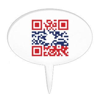 Amo al friki del Lao del código el | de la bandera Figuras Para Tartas