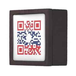 Amo al friki del Lao del código el | de la bandera Caja De Regalo De Calidad