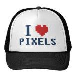Amo al friki impresionante de los pixeles gorra
