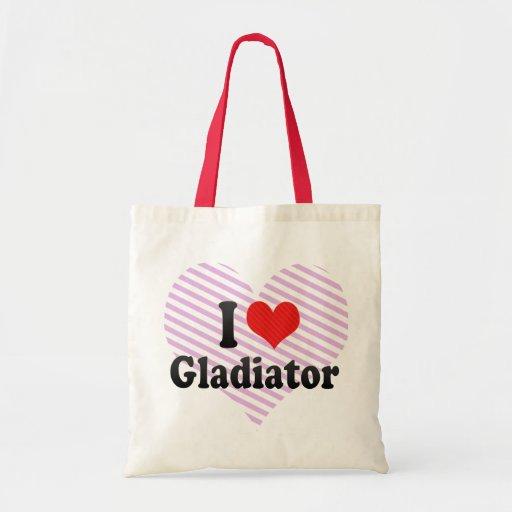Amo al gladiador bolsa lienzo