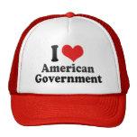 Amo al gobierno americano gorro
