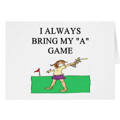 amo al golfista del golf tarjetas