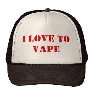 Amo al gorra del camionero del vape